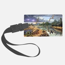 Early Cretaceous life, artwork Luggage Tag