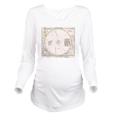 Solar system map fro Long Sleeve Maternity T-Shirt