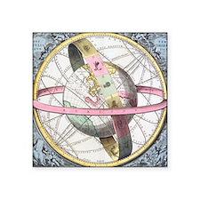 "Earth's celestial circles,  Square Sticker 3"" x 3"""