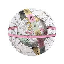 """Earth's celestial circles, 1708 artwor 3.5"""" Button"""