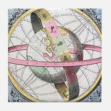 Earth's celestial circles, 1708 artwo Tile Coaster