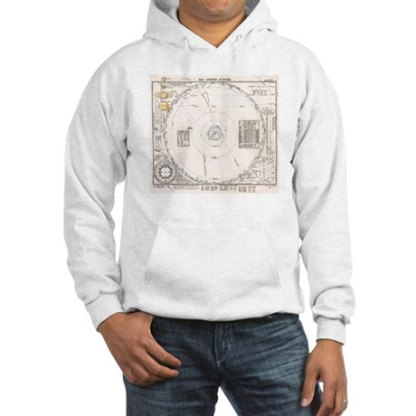 Solar system map from 1853 Hooded Sweatshirt