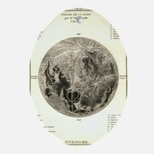 Early map of the Moon, 1772 Oval Ornament