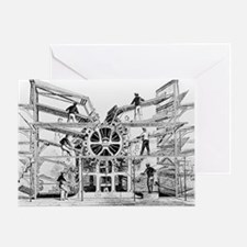 Engraving of the Hoe Rotary Press Greeting Card