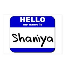 hello my name is shaniya  Postcards (Package of 8)