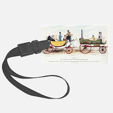 Steam-powered coach, 1829 Luggage Tag