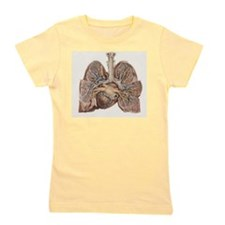 Heart and lungs, historical illustratio Girl's Tee