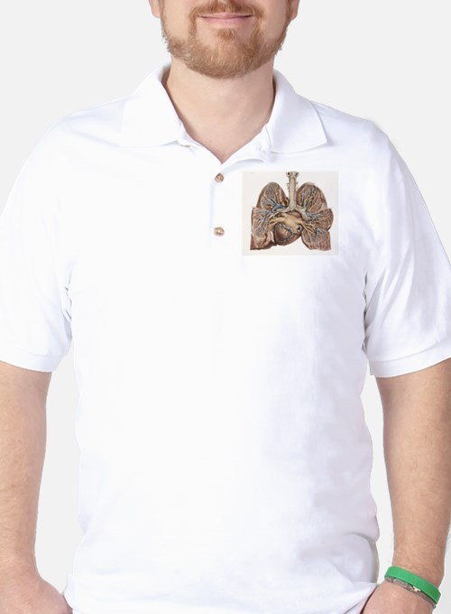 Heart and lungs, historical illustratio T-Shirt