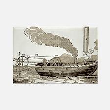 Jonathan Hulls' steamboat, 18th c Rectangle Magnet