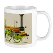 Illustration of a 19th century steam lo Small Mug