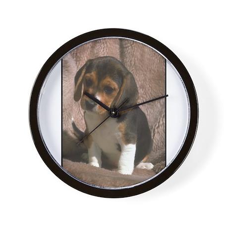 Beagle Puppy Dog Portrait Wall Clock