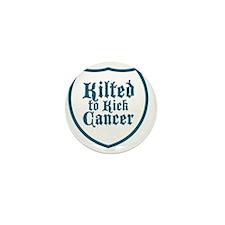 Kilted to Kick Cancer logo Mini Button