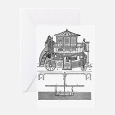 Snowden's locomotive machine Greeting Card