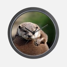 Oriental small-clawed otter Wall Clock