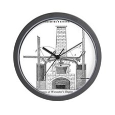 Worcester's engine Wall Clock