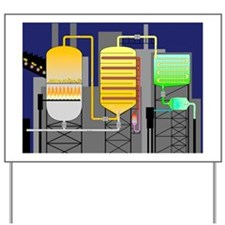 Sulphuric acid production Yard Sign
