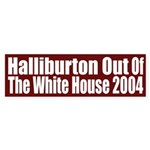Halliburton Out of the White House (sticker)