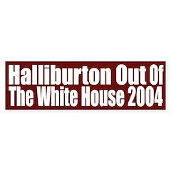 Halliburton Out of the White House (sticker)