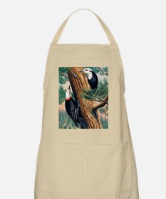 White-headed woodpeckers Apron