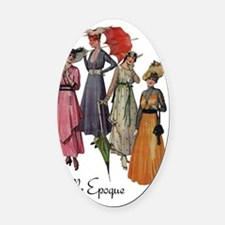 Belle Epoque Fashions Oval Car Magnet