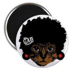 Cat Afro Magnet