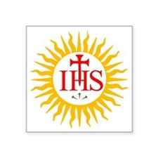 "IHS JESUIT SEAL Square Sticker 3"" x 3"""