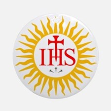 IHS JESUIT SEAL Round Ornament