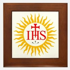 IHS JESUIT SEAL Framed Tile