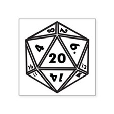 "d20 Square Sticker 3"" x 3"""