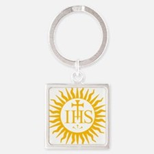 IHS JESUIT SEAL Square Keychain