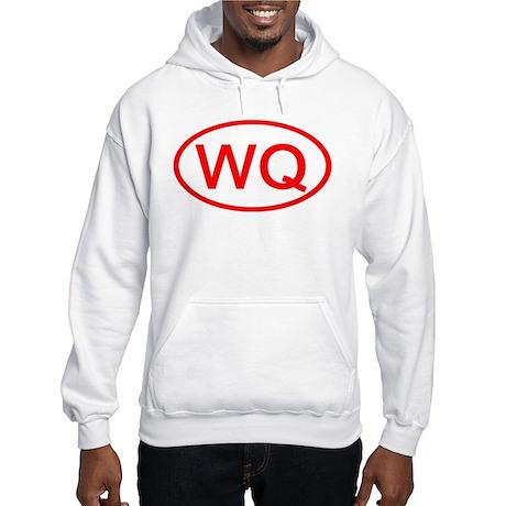 WQ Oval (Red) Hooded Sweatshirt