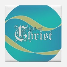Child of Christ waves Tile Coaster