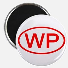 WP Oval (Red) Magnet