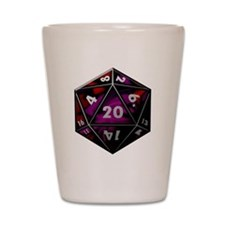 D20 color Shot Glass