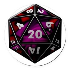 D20 color Round Car Magnet