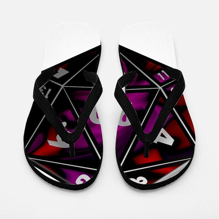 D20 color Flip Flops