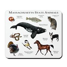 Massachusetts State Animals Mousepad