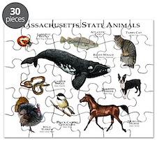 Massachusetts State Animals Puzzle