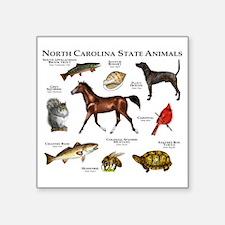 """North Carolina State Animal Square Sticker 3"""" x 3"""""""