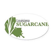 Louisiana Sugarcane Oval Car Magnet