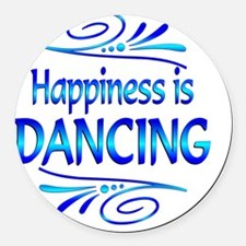 Happiness is Dancing Round Car Magnet