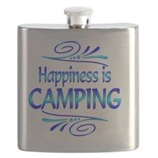 Happiness is Camping Flask