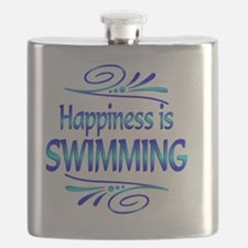 Happiness is Swimming Flask