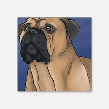 "Bull Mastiff Square Sticker 3"" x 3"""