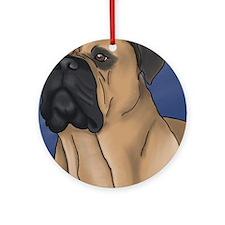 Bull Mastiff Round Ornament