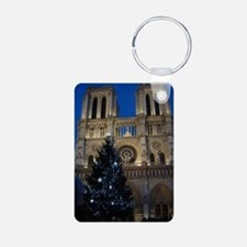 Notre Dame de Paris a NOEL Aluminum Photo Keychain