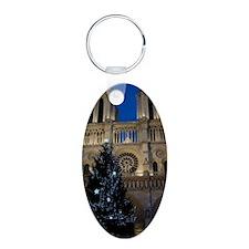 Notre Dame de Paris a NOEL Aluminum Oval Keychain