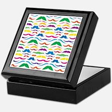 Mustache Color Pattern Keepsake Box