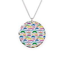 Mustache Color Pattern Necklace