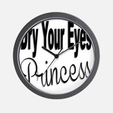 Dry Your Eyes Princess Wall Clock